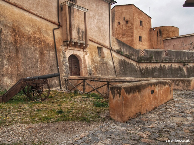 """inside the Spanish fort on one of the five walks of finale ligure"""