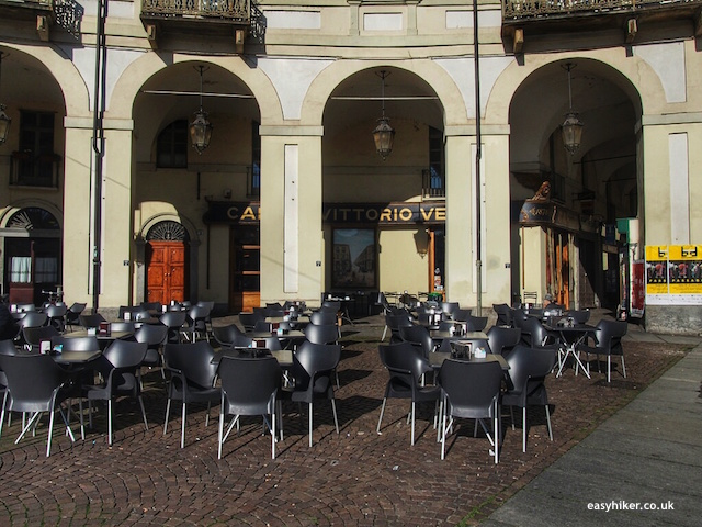 """A cafe in Piazza Venetto on a town walk in Turin"""